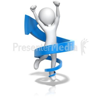 Figure Jump for Joy in Up Arrow Presentation clipart
