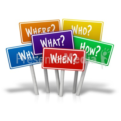Multiple Signs Questions PowerPoint Clip Art