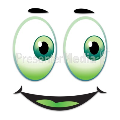 Happy Face Looking Over To Side Presentation clipart