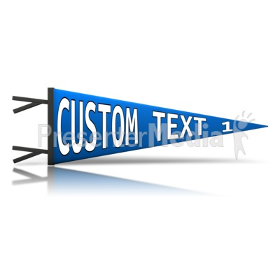 Custom Pennant Presentation clipart