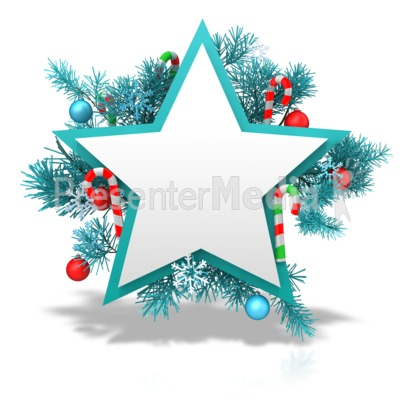 Festive Christmas Star Presentation clipart