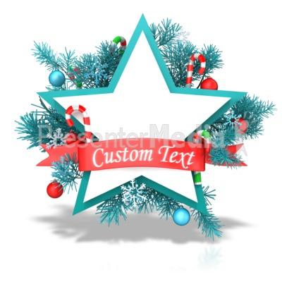 Christmas Star Banner Presentation clipart