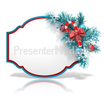 Festive Christmas Shape Presentation clipart
