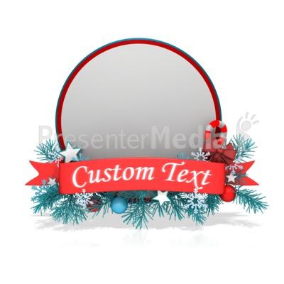 Festive Christmas Circle Banner Presentation clipart