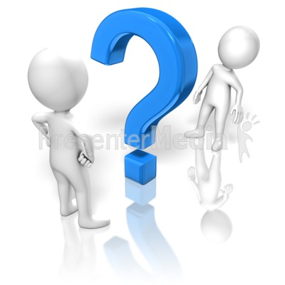 Question Between Figures Presentation clipart