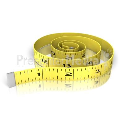 Waist Exercise Tape Measure Presentation clipart