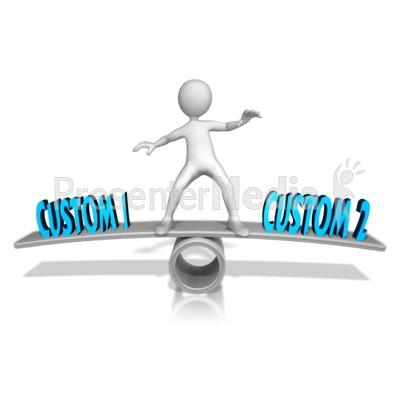 Custom Figure Balance Presentation clipart