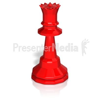 Queen Chess Piece Presentation clipart