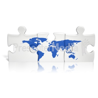 Puzzle Pieces World Presentation clipart