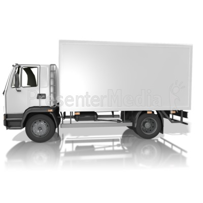 Blank Delivery Truck Presentation clipart