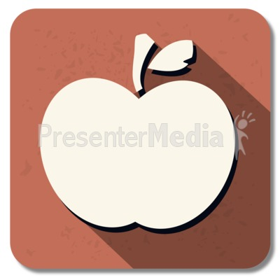 Teacher Apple Square Icon Presentation clipart