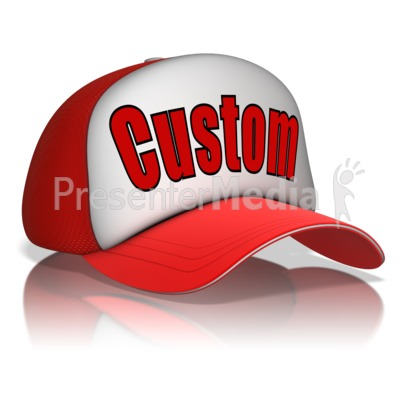 Custom Text Hat Presentation clipart