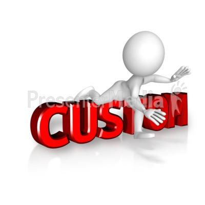 Figure Trips Custom Text Presentation clipart