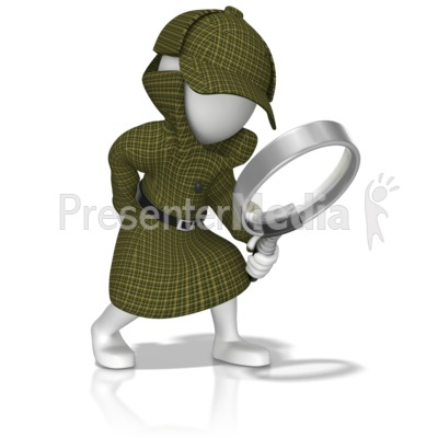 Detective With Magnifying Glass Presentation clipart