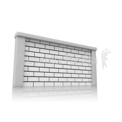 Solid Brick Wall Presentation clipart