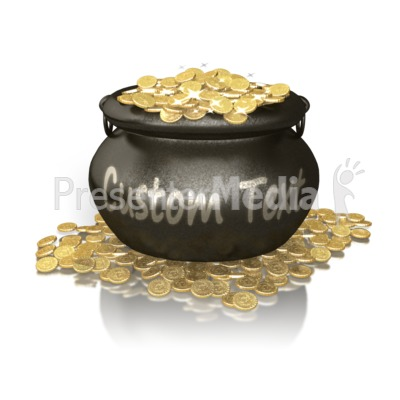 Custom Pot Of Gold Presentation clipart