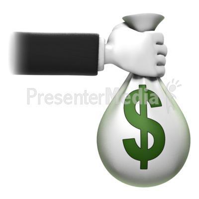 Holding Money Bag Presentation clipart