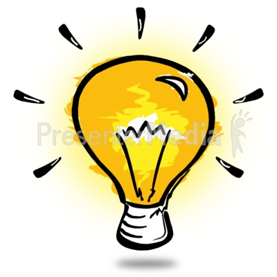 Light Bulb Sketch Presentation clipart