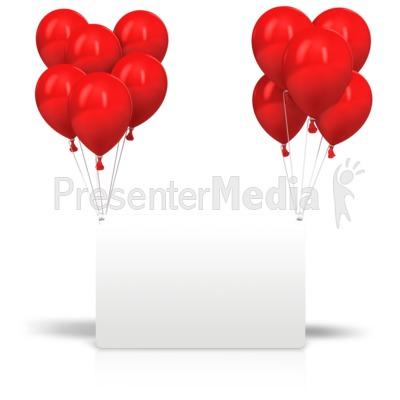 Celebration Balloons Card Presentation clipart