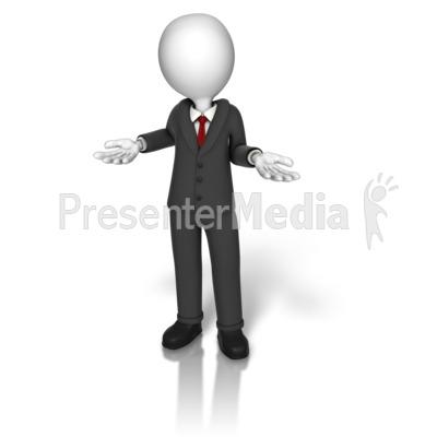 Business Suit Shrugging Presentation clipart