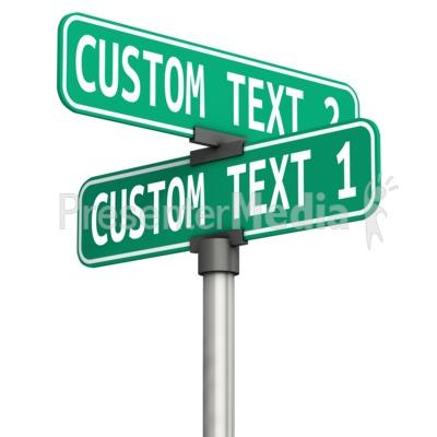 Custom Corner Street Sign Presentation clipart
