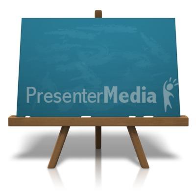 Classic Chalkboard Easel Presentation clipart