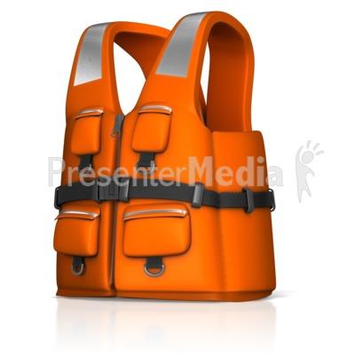 Rescue Life Jacket Presentation clipart