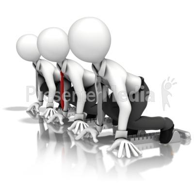 Business Men Race Presentation clipart