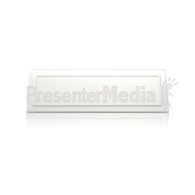 Upright Bevel Name Card Presentation clipart