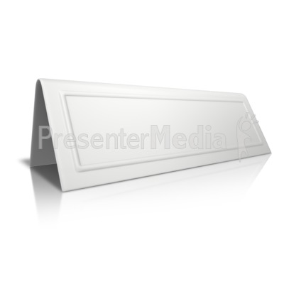 Beveled Card Blank Presentation clipart