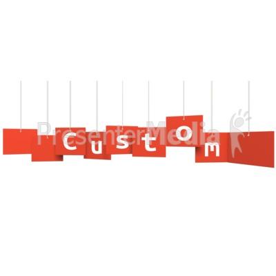 Custom Multi Level Sign Presentation clipart