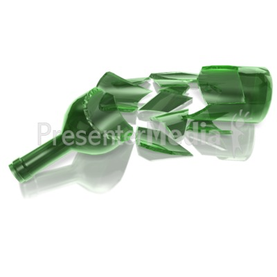 Bottle Shattered Presentation clipart