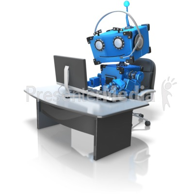Robot Automated Customer Service Presentation clipart