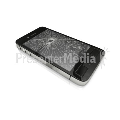 Smart Phone Screen Broken Presentation clipart