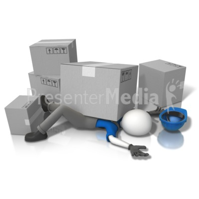 Construction Accident Squished (Grey Box Presentation clipart