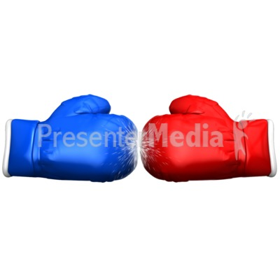 Boxing Glove Faceoff Presentation clipart