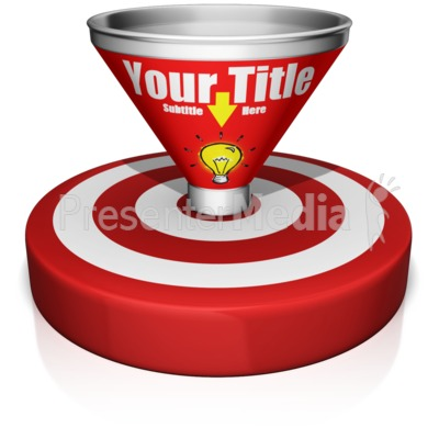 Custom Funnel Bullseye Presentation clipart
