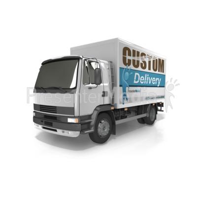 Custom Delivery Truck Presentation clipart