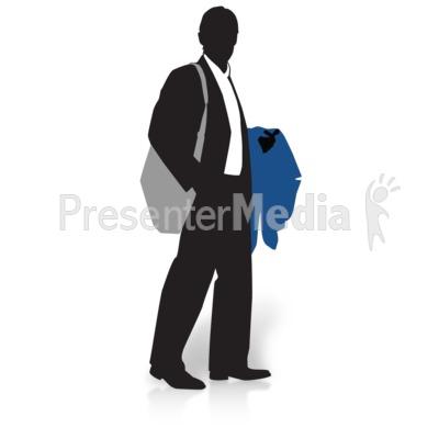 Businessman Silhouette Coat Presentation clipart