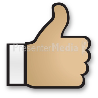 Hand Thumbs Up Cuff Presentation clipart