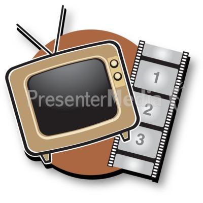 Tv Film Icon Presentation clipart