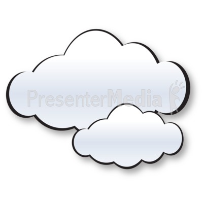 Two Cloud Cluster Presentation clipart