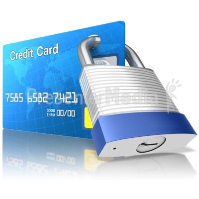 Secured Credit Card Presentation clipart
