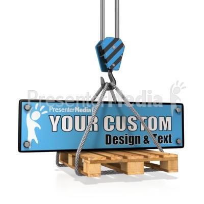 Hook Carry Construction Plate Custom Presentation clipart