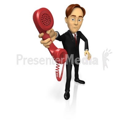 Business Guy Phone Presentation clipart