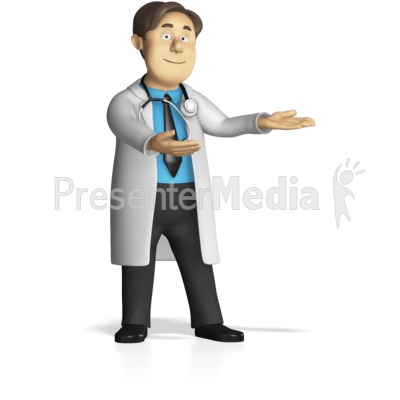 Male Doctor Presenting Presentation clipart