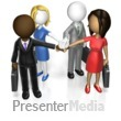 ID# 15262 - Business Team Huddle Custom - Presentation Clipart