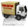 Custom Cardboard Truck Presentation Clipart