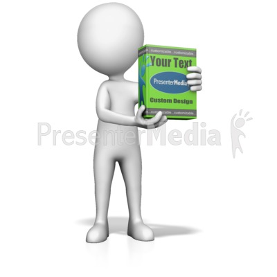 Figure Holding Product Box Presentation clipart