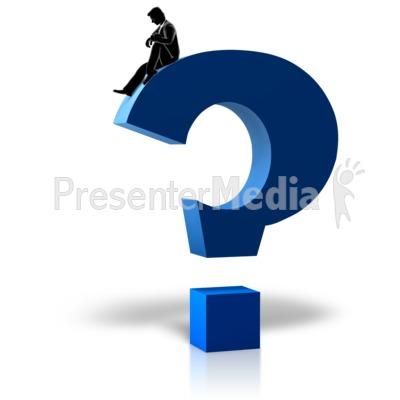 Figure Pondering Question Presentation clipart
